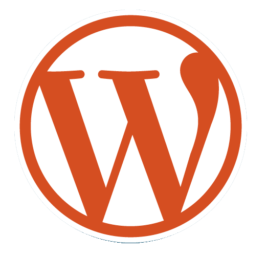 WordPress Orange Logo Transparent Outside