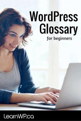 WordPress Glossary for beginners