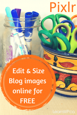 With Pixlr you can Edit and Size blog images online for free