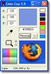 screenshot of color cop utility