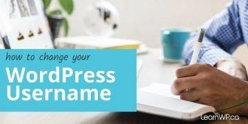 How Do I Change My WordPress Username?
