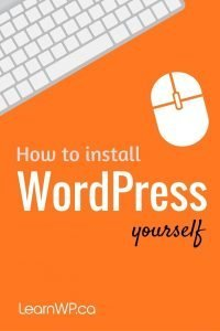 How to install WordPress yourself
