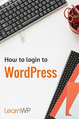 How to login to WordPress