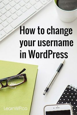 How to change your username in WordPress