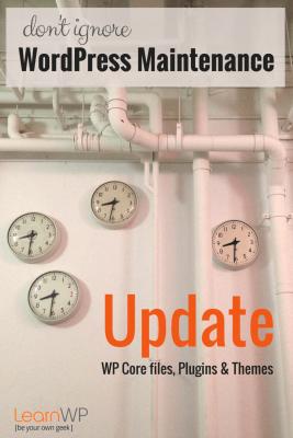 Don't ignore WordPress Maintenance - Update WordPress Core files, Plugins & Themes