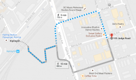 map to walk from Kipling station