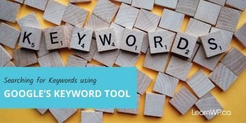 Searching for keywords using Google's keyword tool - Scrabble letters spelling Keywords