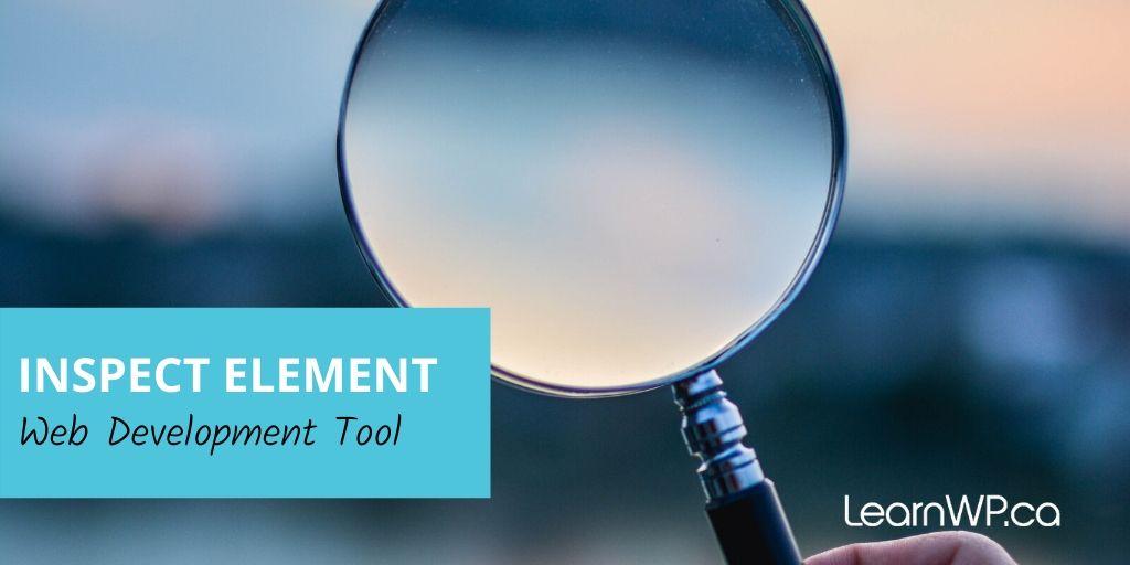 Inspect Element Web Developer tool