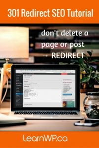 301 redirect SEO tutorial | Don't just delete a page or a post -> redirect