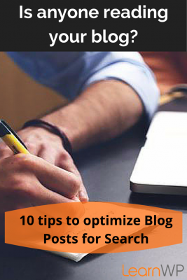 SEO checklist: Is anyone reading your blog? 10 tips to optimize blog posts for search