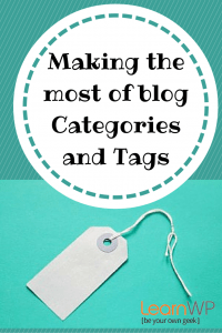 Making the most of blog Categories and tags