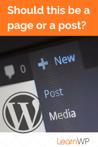 Should this be a WordPress Page or Post?