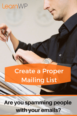 Create a proper newsletter mailing list