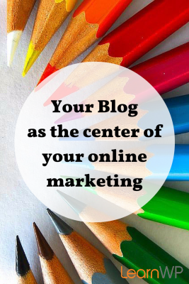 Your blog should be part of your website not on an external blogging service
