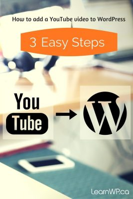 3 Easy Steps to add a YouTube Video on a Page