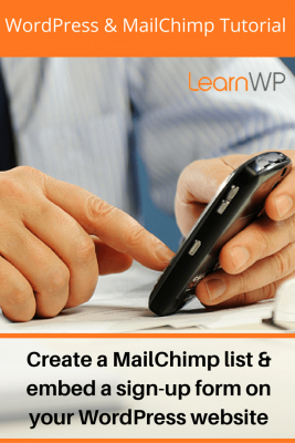 Add a MailChimp sign-up form to your blog