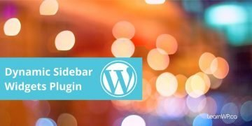 dynamic sidebar widget plugin WordPress