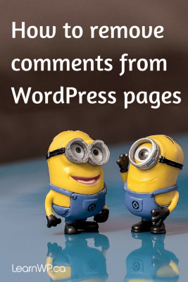 How do I remove the WordPress comments box from pages?