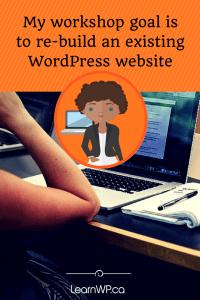 Rebuild an existing WordPress site