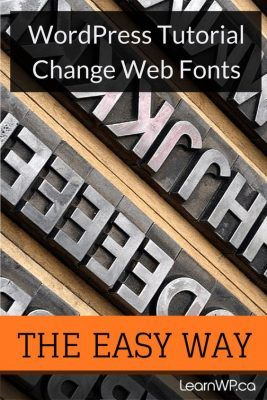 Changing Fonts the easy way