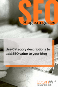 Display category descriptions & add SEO value