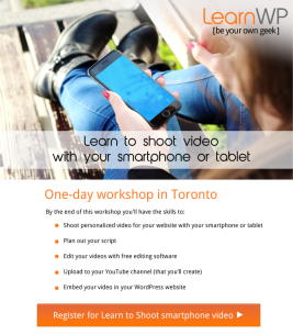 Learn to shoot video for your business website </br>new Toronto workshop