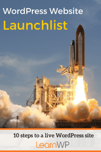 Website Launchlist | 10 steps to a live WordPress site