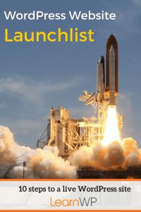 Website Launchlist | 10 steps to a live WordPress site