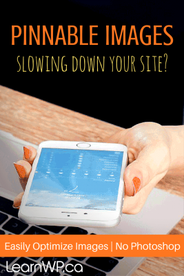 Pinnable Images slowing down your site? Easily optimize images - No Photoshop