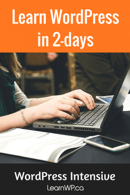 Learn WordPress in 2-days