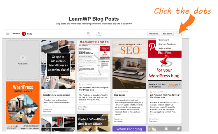 Create a Widget to add a Pinterest Board to your Blog