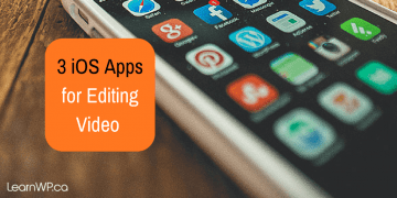 Three iOS Apps for video editing
