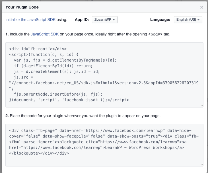 New Facebook Page Plugin Code to Replace Like Box