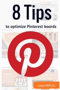 8 Tips to optimize Pinterest Boards