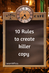 Killer Copy Rules