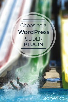 Choosing a WordPress Slider Plugin
