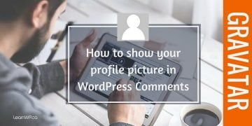 How to show your profile photo in blog comments