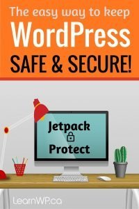 The easy way to keep WordPress safe & secure! Jetpack Protect