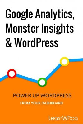Google Analytics, Monster Insights & WordPress Power up WordPress from your dashboard