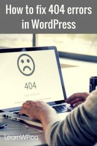 How to fix 404 errors in WordPress