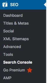 Yoast Search Console Screenshot